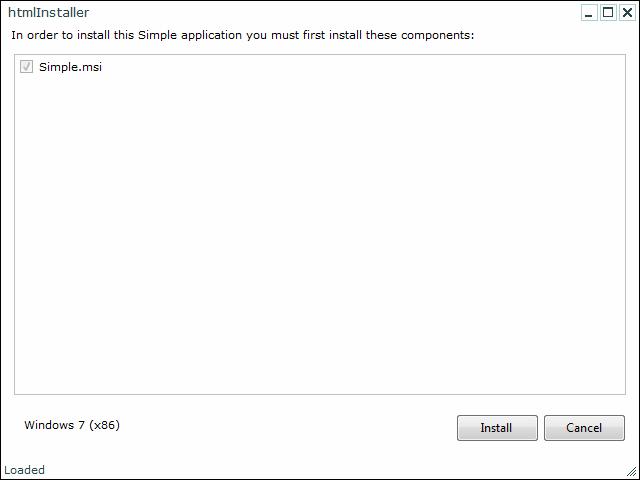 Basic Workflow with htmlInstaller: HTML-based bootstrapper for DNI